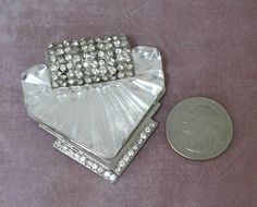 Haute Couture VERSACE Rhinestone Crystal Lucite/Acrylic Runway Brooch Pin VTG #Versace