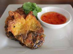 Fried veggie wontons