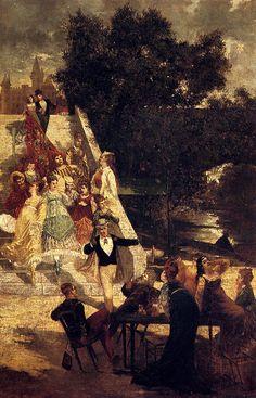 Adolphe Monticelli (1824-1886)La Terrasse Du Chateau De St. Germain