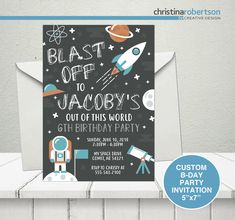 Excited to share the latest addition to my shop: Outer Space Birthday Invitation, Astronaut Birthday Party, Outer Space Birthday Party, Space Birthday Party Invitation, Astronaut Birthday 3 Year Old Birthday Party Boy, Rocket Birthday Parties, 5th Birthday, Birthday Board, Birthday Party Invitations, Birthday Party Themes, Birthday Ideas, Outer Space Party, Moon Party