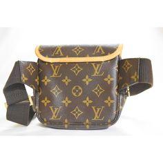 Louis Vuitton Monogram Bopshore Messenger Waist Bum Bag (€475) ❤ liked on Polyvore featuring bags, monogrammed bags, hip fanny pack, louis vuitton bags, fanny pack bags and waist fanny pack