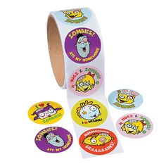 1 Roll HALLOWEEN Party Favors Prizes Kids Fun Silly ZOMBIE STICKERS #FX #Halloween