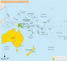 Resultado de imagen de mapa politico oceania 2016 Vanuatu, Map Iceland, Federated States Of Micronesia, Pictures Of Maps, Marshall Islands, French Polynesia, Europe, Countries