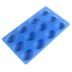 12 Bar Oval Silicone Mold | Bramble Berry® Soap Making Supplies