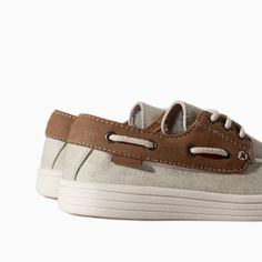 Image 4 of CANVAS DOCKSIDES from Zara