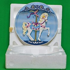 1992 Rhodes Studios Musical Carousel Treasures Musical Collector Plate