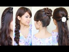 Braided Hairstyles for School Picture Day | 5 Strand Braid Hair Tutorial - YouTube