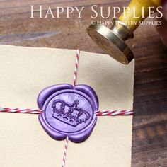 1pcs Imperial Crown Gold Plated Wax Seal Stamp (WS010) on Etsy, $18.50