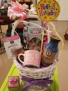 50th Birthday, Birthday Gifts, Birthday Cake, Birthday Gift Baskets, Iced Latte, Sweet, Cute, Ideas, Birthday Presents