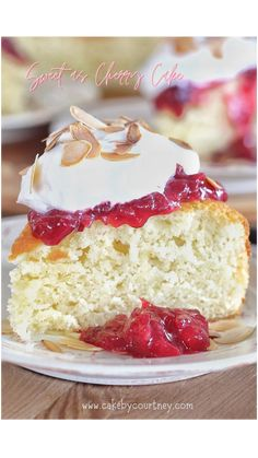 Cherry And Almond Cake, Cherry Cake, Almond Cakes, Cake Frosting Recipe, Frosting Recipes, Edna Lewis Recipes, Strawberry Rhubarb Crumble, Cherry Recipes, Classic Cake