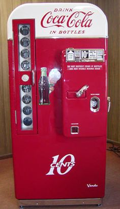 vintage coke machine.