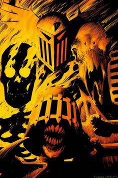 """Fire, Fear, Mortis and Death - """"The Dark Judges"""" byFrazer Irving."""