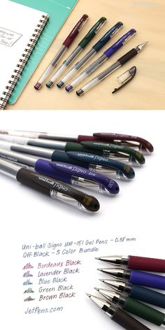Uni-ball Signo gel ink pens, also known as Signo DX, are known for their smooth writing and exceptional ink quality! Art Supplies, Office Supplies, Fine Point Pens, Resume Ideas, Stationary Items, Gel Ink Pens, Jet Pens, Stationeries, School Supplies