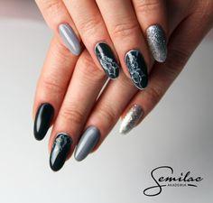 #grey #silver #longnails #grunge