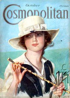 """Cosmopolitan"" magazine - October 1918 - Cover illustration by Harrison Fisher"