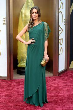 Oscares 2014: Louise Roe en un look de Pronovias.