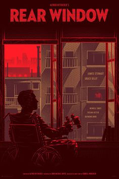 Rear Window, Art Prints by Kevin Tong Based on Alfred Hitchcock's 1954 Suspense Film - ''Fenêtre sur Cour''