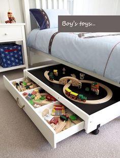 Under the Bed DIY Storage Idea for Kids