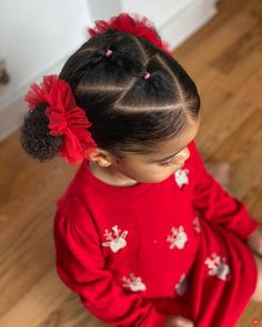 """Hey Bambino on Instagram: """"Triangle Parts🎄 #tuesdaystyle"""" Little Girls Natural Hairstyles, Toddler Braided Hairstyles, American Girl Hairstyles, Kids Curly Hairstyles, Baby Girl Hairstyles, Girl Hair Dos, Hair Inspiration, Natural Hair Styles, Twins"""