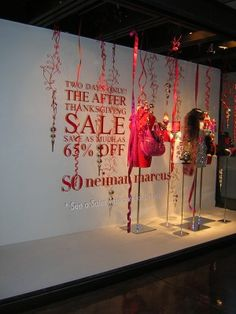 Store Windows in Dallas: Energizing Black Friday