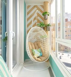 Inspiring Minimalist Home Balcony Design Ideas have an important role in your home because it is located in front of the house. Although only as an additional function, the balcony design must stil… Home Interior Design, House Interior, Apartment Decor, Small Balcony Decor, Home, Interior, Home Deco, Bedroom Design, Minimalist Home