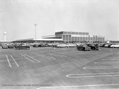 """On March 22, 1954, Hudson's opens the first almost-enclosed shopping mall in Southfield, Michigan, ushering in the age of the """"modern mall""""."""