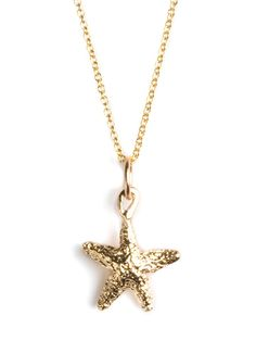 This charming starfish style goes back to Helen Ficalora's roots. Raised in Montauk, Long Island, she spent her childhood collecting nature's treasures-which gives this glam pendant a sense of authenticity not to mention sweet edge.  Please note the chain is sold separately  All Helen Ficalora purchases come with a free gift: A Sterling Silver Key Charm (Retail Value: $45)