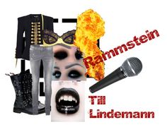 Till Lindemann by slytheriner on Polyvore featuring SELECTED, Topshop and Balmain