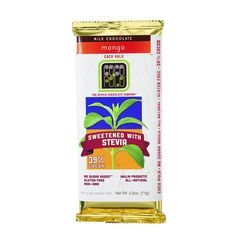 Coco Polo Chocolate Bar - 39 Percent Milk Mango - Case of 10 - 2.5 oz Bars