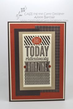 Gothdove Designs - Alison Barclay - Stampin' Up! Australia - Amazing Birthday stamp set on a retro masculine birthday card. #stampinup #colorcoach #birthday #masculine