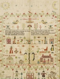 """Mary Bagshaw Aged 13 July 18 1793,"""" England,"""