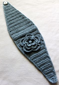 Blue Hand Crocheted Headband/Earwarmer by micheleweeksboutique