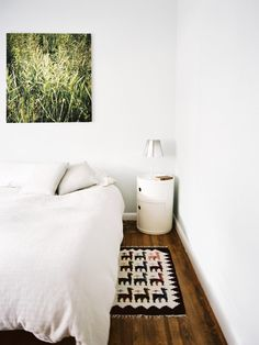 Williamsburg Residence by Leonora Mahle, LLC with Flos Miss K and Kartell Componibili Bedroom Photos, Home Bedroom, Modern Bedroom, Bedrooms, Bedroom Rugs, Warm Bedroom, Minimalist Bedroom, Bedroom Ideas, My Home Design