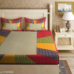 Checkout this latest Bedsheets Product Name: *Trendy Jaipuri Printed Cotton Double Bed Bedsheet with 2 Pillow Cover* Fabric: Cotton No. Of Pillow Covers: 2 Thread Count: 160 Multipack: Pack Of 1 Sizes: Queen (Length Size: 93 in, Width Size: 83 in, Pillow Length Size: 27 in, Pillow Width Size: 17 in)  Country of Origin: India Easy Returns Available In Case Of Any Issue   Catalog Rating: ★4 (430)  Catalog Name: Classic Fancy Bedsheets CatalogID_2231516 C53-SC1101 Code: 383-11780566-597