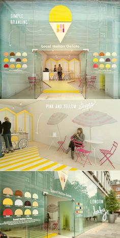 London Gelato shop shows that with the right styling, even a minimal fit-out pop up shop can have a huge impact