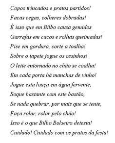 O hobbit / Isso é o que Bilbo Bolseiro detesta