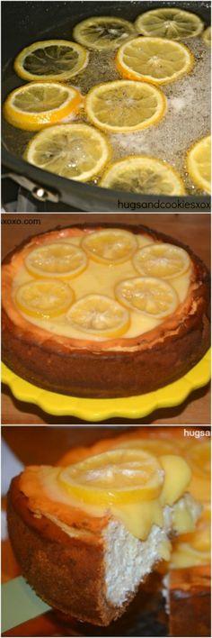 Lemon Bar Cheesecake - Hugs and Cookies XOXO