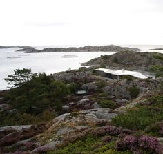 Cabin Lyngholmen by Lund Hagem Arkitekter, a house between the rocky landscape and the ocean.