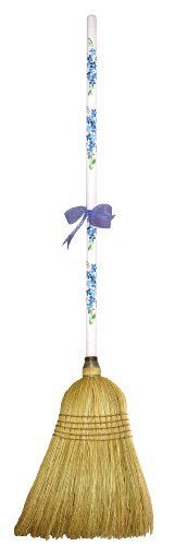 """CuteTools! 15012 Garden Broom, Forget-Me-Nots by CuteTools!. $28.00. Beautiful hand painted handle. 5 rows of reinforced stitching and a larger 15/16"""" diameter handle. Broom head has a full shoulder and is made with all corn fibers for durability and sweeping. The garden broom has a place in every garage or garden shed. the broom head has a full shoulder and is made with all corn fibers for durability and sweeping even the biggest of jobs. it could also be used for k..."""