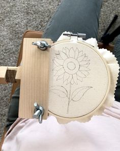 DIY Embroidery kit for beginners, sunflower embroidery, cross stitch