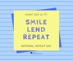 What day is it? What day is it?  #NationalRepeatDay Repost from us to celebrate! oaktreebiz.com #OTBS_CUforms SmileLendRepeat consumerlending RepeatLending  Credit Union Documents http://owl.li/Ue4T30c7d1W