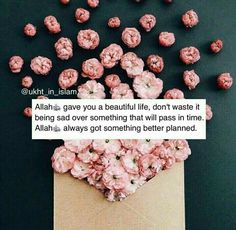 If we know how Allah has prepared everything for our life, we should be melting because of love,