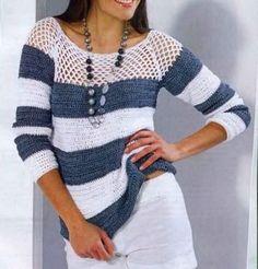 Nur Muster - eine gehäkelte Bluse im Frühjahr / Sommer / Herbst -#Bluse