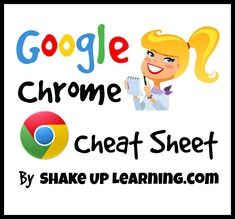 A Google Chrome Cheat Sheet by ShakeUpLearning.com #gafe
