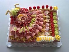 Food Trays, Fruit Trays, Fruits And Vegetables, Veggies, Plateau Charcuterie, Kawaii Bento, Sandwich Cake, Cupcakes, Party Platters
