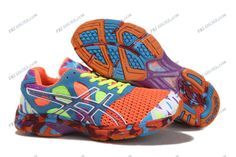 Asics Gel Noosa Tri 7 Orange/Green/Blue Mens Sports Running Shoes