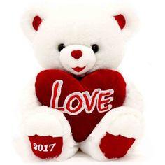valentine sweetheart teddy bear 14 inch white - Walmart Valentine Gifts