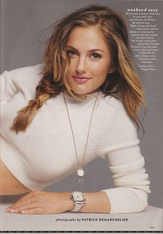 Minka Kelly..One of my favorite photos , Glamour Magazine , I used this as refere4nce for my hair stylist