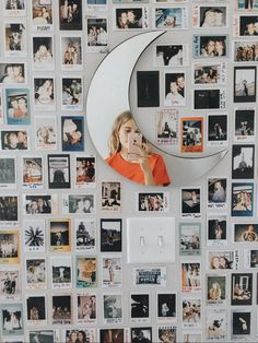 Polaroid wall h o m e y in 2019 room decor, dorm room, diy room. Dream Rooms, Dream Bedroom, Girls Bedroom, Girl Rooms, Teen Rooms, Images Murales, Photowall Ideas, Room Decor For Teen Girls, Doorm Room Ideas