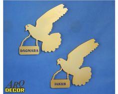 Gołąbki Z Imieniem - Dekoracja Na Pierwszą Komunię - ARQ - DECOR | Pracowania Dekoracji ARQ DECOR